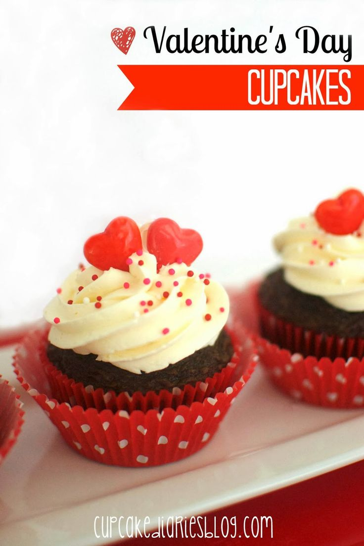 Valentines Day Cupcakes | cupcakediariesblog.com