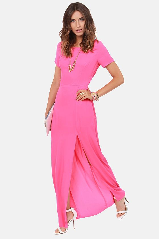 Don't Call It a Comeback Pink Maxi Dress at LuLus.com!