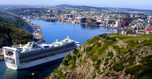 Cruise ship entering St.John's Harbour