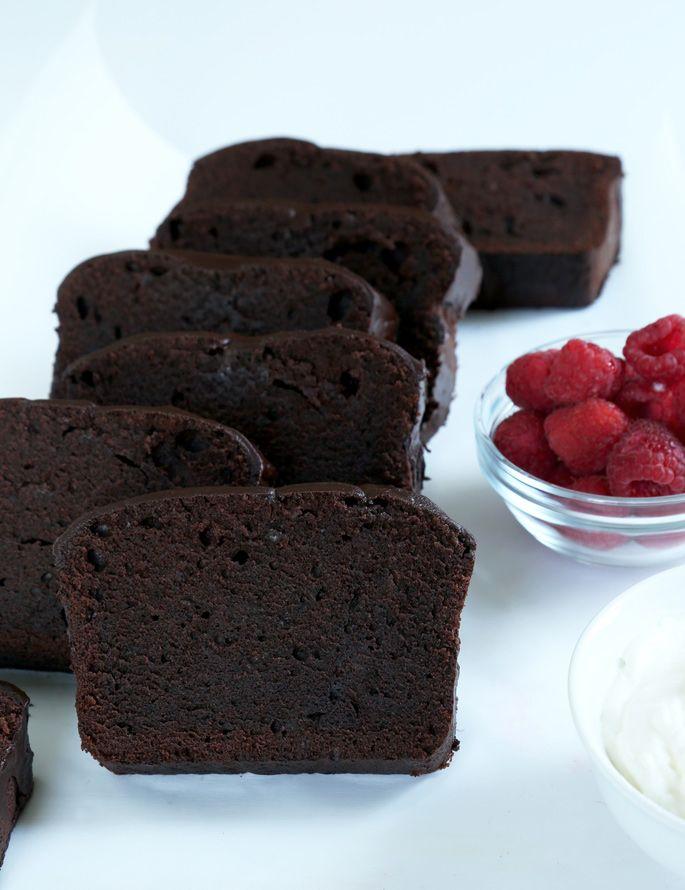 Classic Gluten Free Chocolate Pound Cake with chocolate glaze!