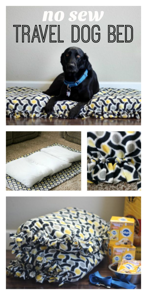 DIY Hundebett aus einer Krippenmatratze mit DIY Fleece Bezug