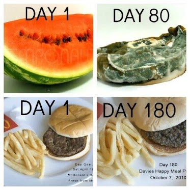 80 days later: watermelon vs McDonalds. What do you want in your body?Fit, Nature Food, Junk Food, Eating, Realfood, Health, Fast Food, Real Food