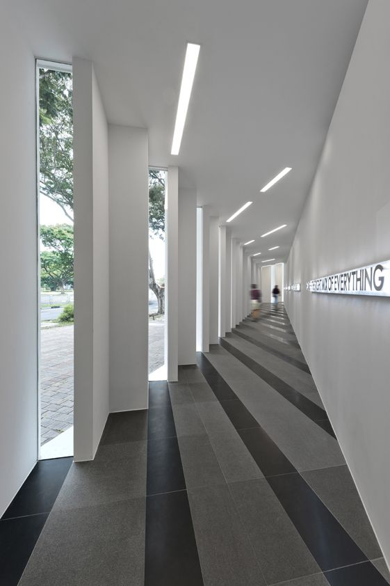 UOL Edge Gallery / Ministry of Design - Beautiful repetition of windows. Also beautiful the use of colour on the flooring according where the windows are.