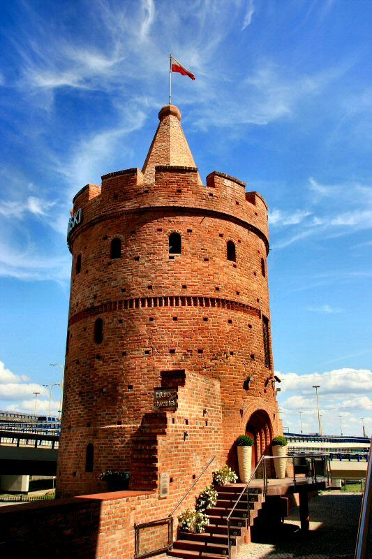 The Maiden Tower (Tower of Seven Coats is located near the river Odra below of the Pomeranian Dukes' Castle.