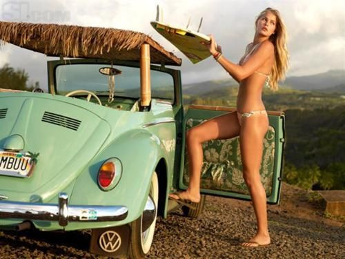 SummerPunch Buggy, Surf Girls, Vw Beetles, Surf Up, Vw Bugs, Cars, Beach, Surfers Girls, Sports Illustration Swimsuits