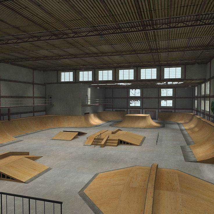 interior skate board parks - Google Search