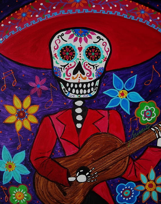 209 best images about all about mariachi and mexico on for Dia de los muertos mural
