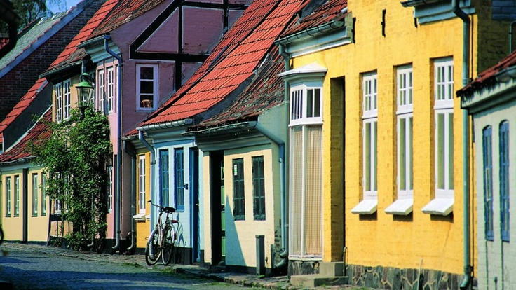 On of the many quaint and historic coast towns on Funen #funen #townlife #summer