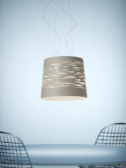 EPI LUMINAIRES : Suspension Tress Grande de Foscarini, en fibres de ...
