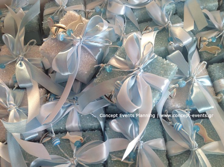 Baby boy Christening favors by Concept Events Planning | www.concept-events.gr