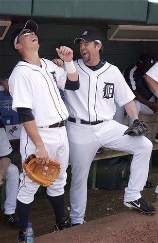 Brandon Inge and Sean Casey