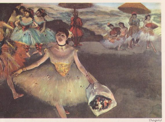 Ballet -- Edgar Degas. Beautiful Collection of 36 English, Italian, French and German Postcards -- 1960s-1980s  Custom Set without cover 4x6x36 (postcard), has not been written on