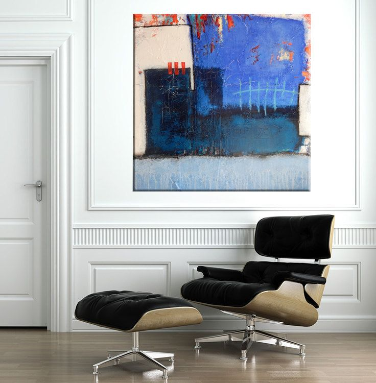 Art Painting Abstract Mixed Media Original Acrylic by MAUSART on Etsy