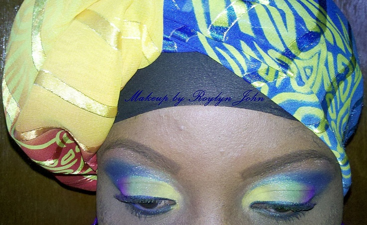 Your makeup can be coordinated with your outfit as seen here.
