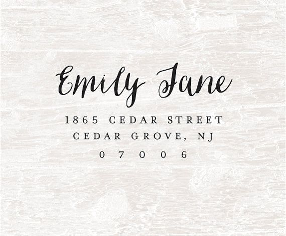 Custom address stamp ... Great for personal stationery, invitations, save the dates, rsvp cards, thank you cards and business cards. Custom stamps also make a great personalized gift ... housewarming, wedding, bridesmaid, birthday and Christmas.  This listing is for a custom pre-inked stamp: • MaxLight Stamps are the best premium quality pre-inked stamps. They last 4 times longer than self-inking stamps. No ink pad is needed as the ink is already in the stamp. Use for thousands of…