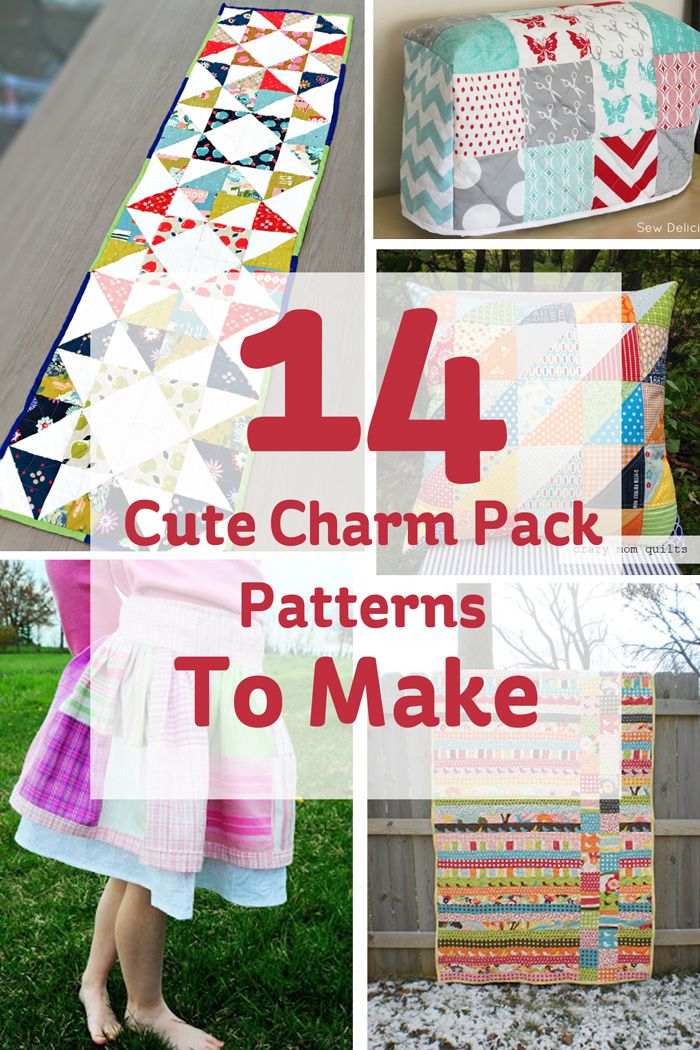 Charm the pants off everyone with these gorgeous sewing patterns for your charm packs! They may only be little, but boy can they create something pretty...