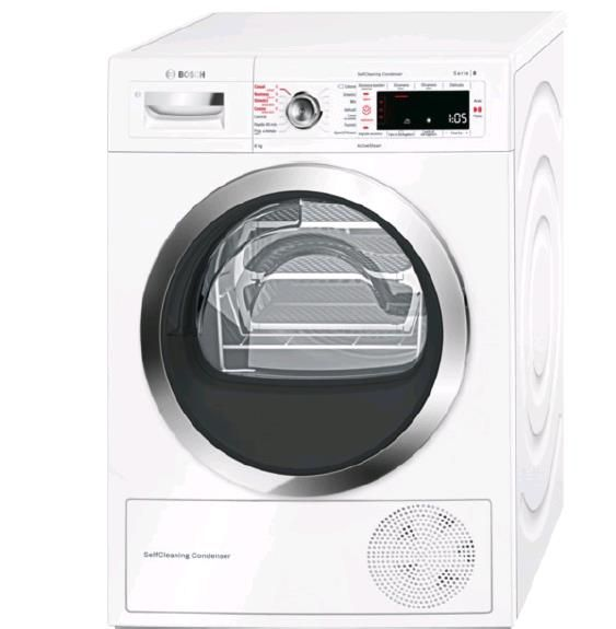 Bosch WTW855R8IT - Asciugatrice, 8 kg, A++
