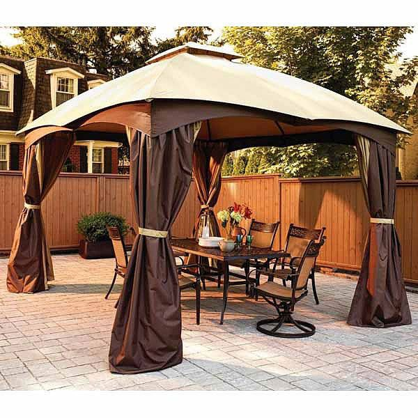 Replacement Canopy And Netting Allen Roth Dome 10x12 Garden Winds Canada Gazebo Replacement Canopy Gazebo Replacement Canopy
