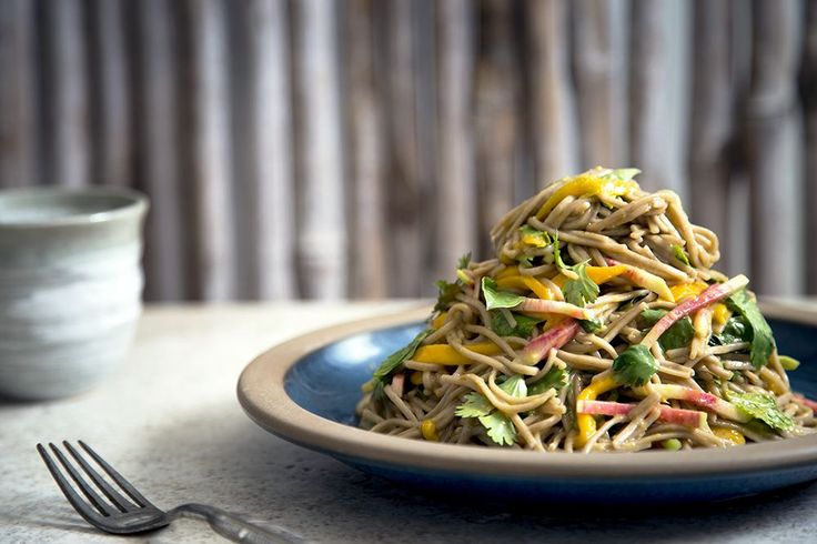 Our recipe for cold mango soba noodle salad so fucking dope it's a worthy steal from the office fridge.