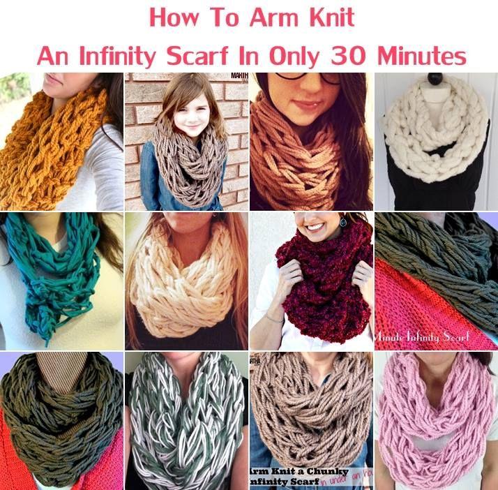 Creative Ideas - DIY Arm Knit Infinity Scarf in 30 Minutes   iCreativeIdeas.com Follow Us on Facebook --> https://www.facebook.com/iCreativeIdeas
