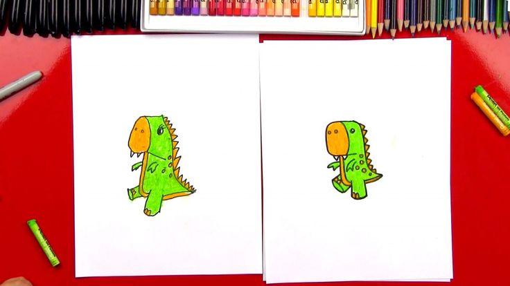 Hoe maak je een Cartoon T-Rex (Art Clubleden)