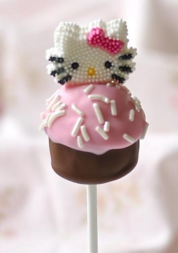 Hello Kitty Little Cupcake Lolipop