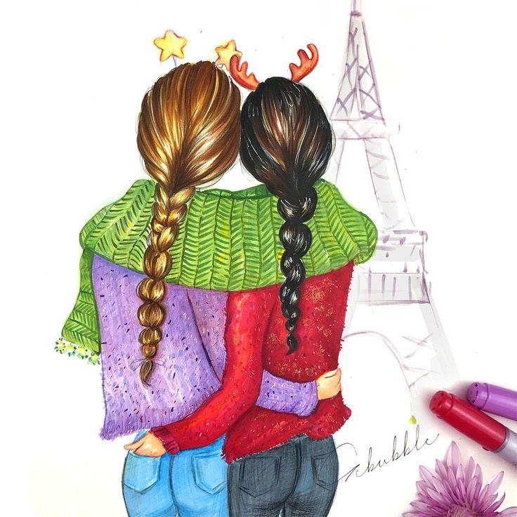 Карандашом открытки лучшей подруге