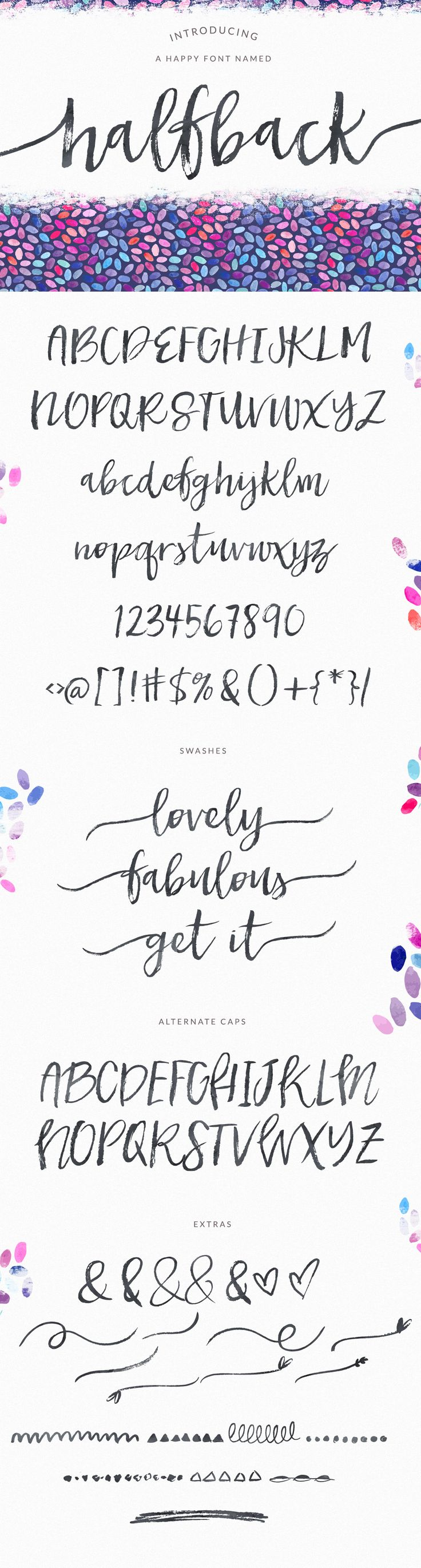 Halfback - A Dry Brushed Script Font by Angie Makes on Creative Market
