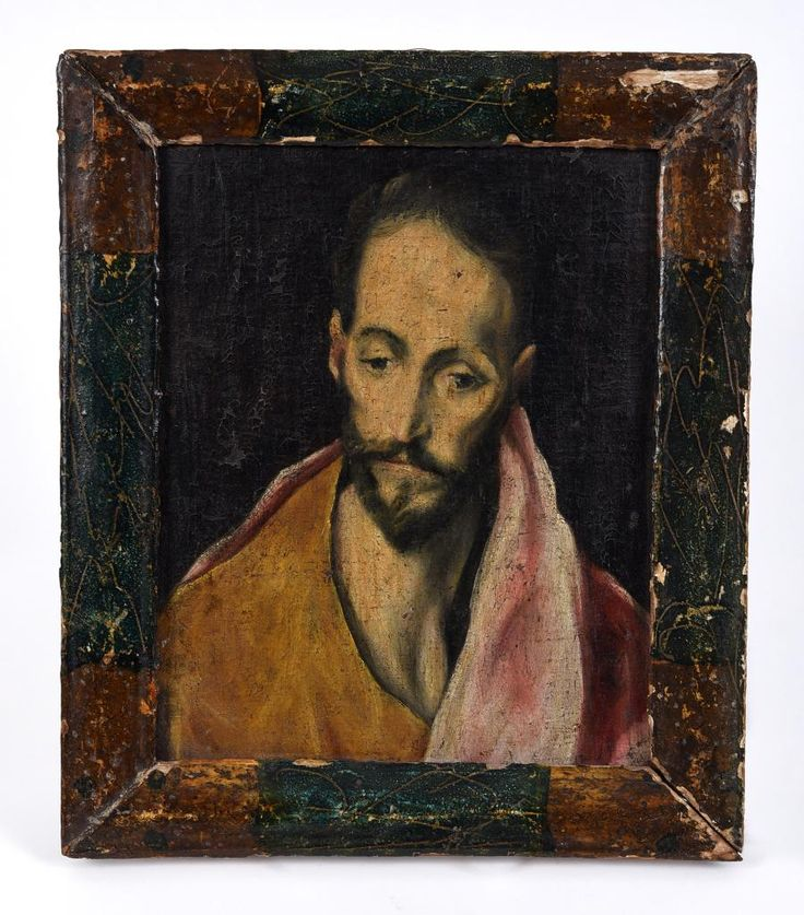 Couple of phone lines books on this El Greco-esque oil painting today #BidBidBid