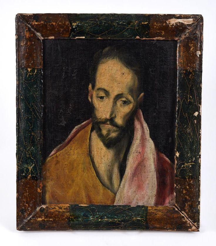 Couple of phone lines books on this El Greco-esque oil painting today #BidBidBid