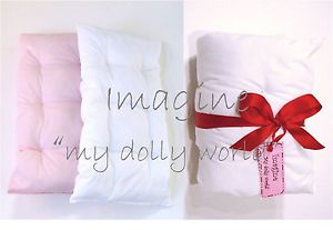"Doll Mattress And Pillow in cotton for 18"" doll"