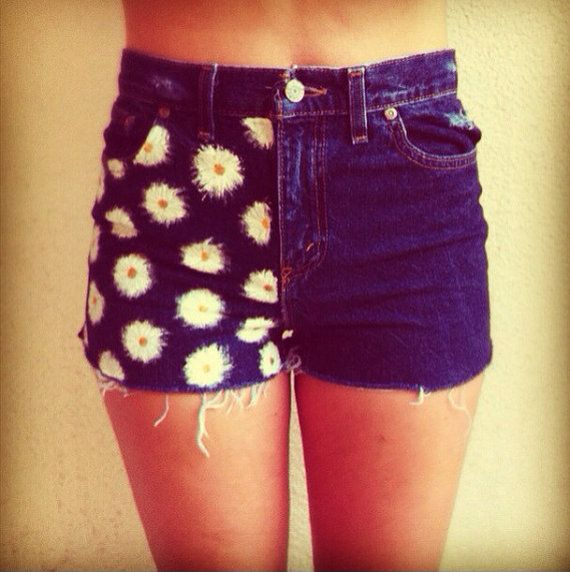 High Waisted Half Daisy Shorts by NovaClothing on Etsy.      I love these....Ill prob end up diying them though!