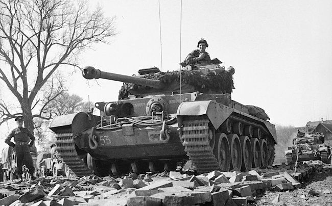 Scottish Territorial Army Regiment 2nd Fife and Fofar Yeomanry A34 Comet Cruiser tank Mk.1A named Saint Andrew