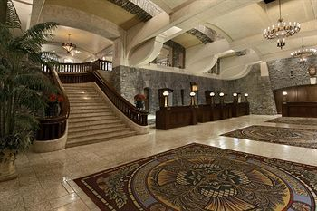 the lobby of the Fairmont Hotel, Banff