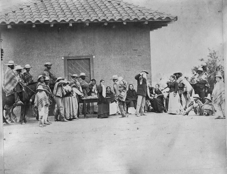 Arrabales de Santiago, fiesta campesina en el Santiago de 1887