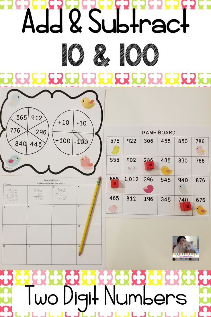 Add And Subtract 10 And 100 Adding And Subtracting Math Activities Elementary Resources Adding and subtracting up to 10