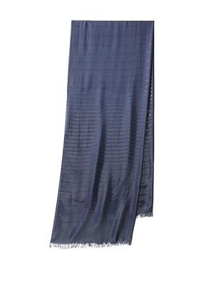 ARMANI COLLEZIONI Women's Striped Stole, Navy