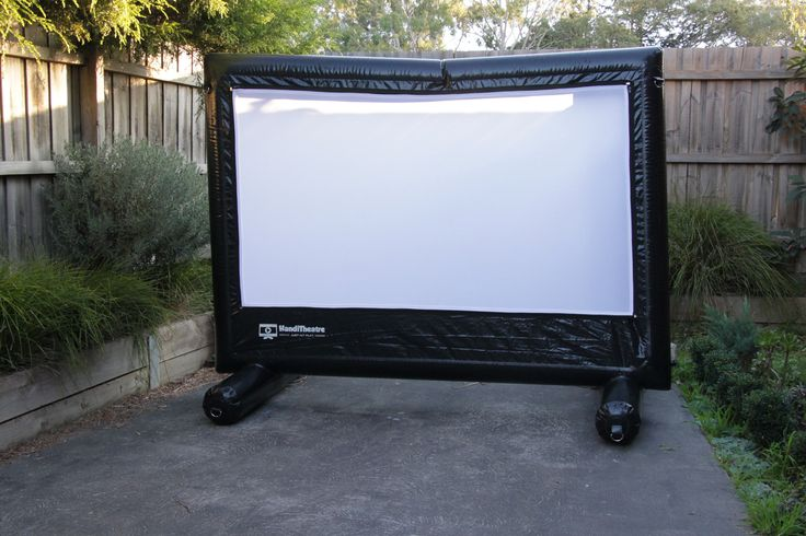 2.5 metre Inflatable screen for backyard cinema will fit in the driveway and the tiny backyard of an average unit.