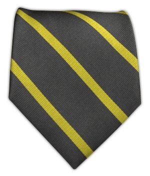 Usher tie - Trad Stripe - Charcoal/Yellow | Ties, Bow Ties, and Pocket Squares | The Tie Bar