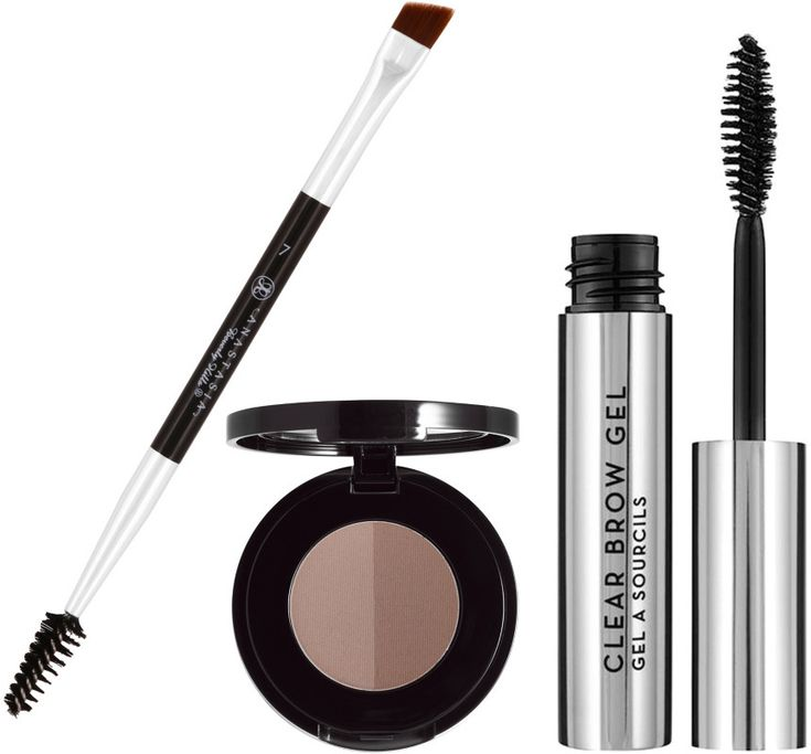 Bold Brow Kit by Anastasia Beverly Hills is all you need for bold brows in 3 easy steps. After you choose your shade of Brow Powder Duo, simply fill with the Mini Duo Brush, and set with Clear Brow Gel.