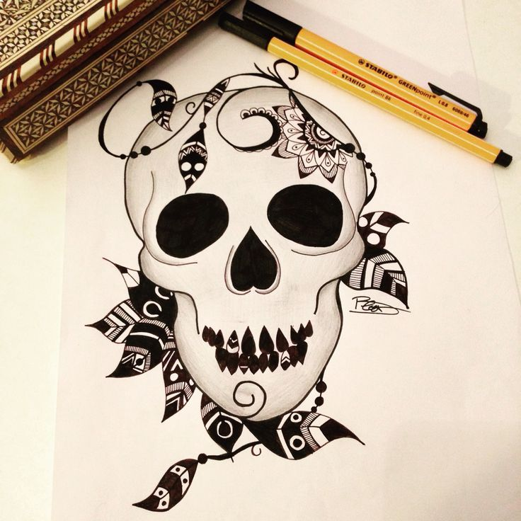 26 best industrial barbells images on pinterest ears piercing industrial barbell and - Dessin tete de mort ...