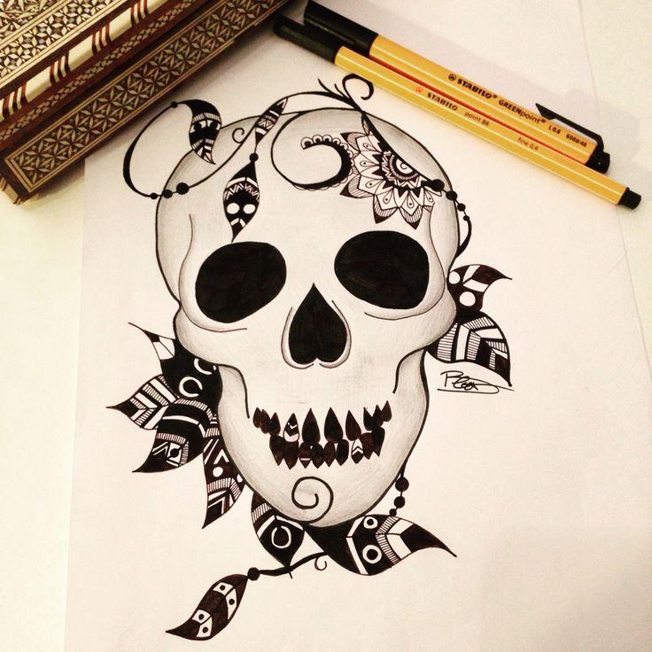 1000 ideas about dessin tete de mort on pinterest. Black Bedroom Furniture Sets. Home Design Ideas