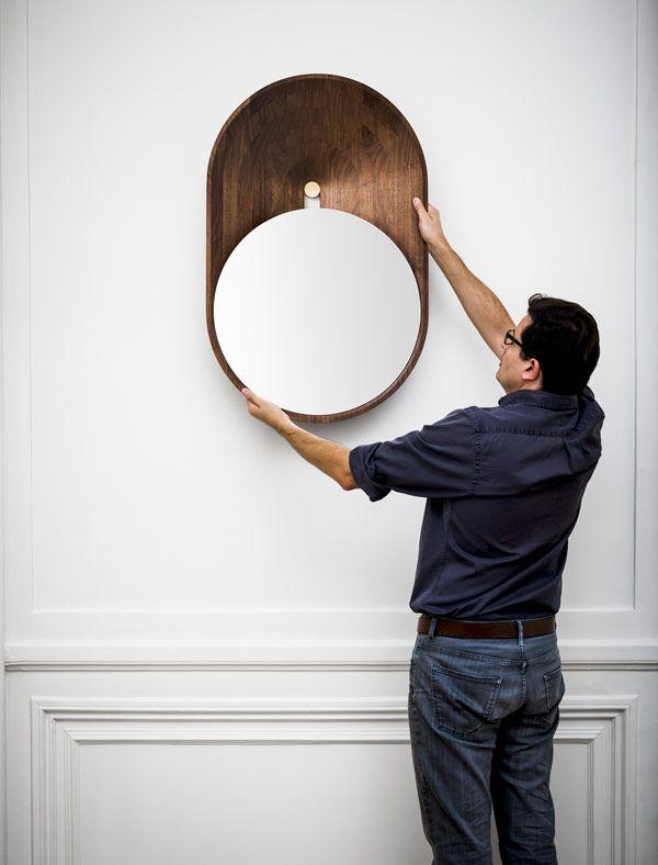 Modern mirror – Miroir Mono by grégoire de lafforest