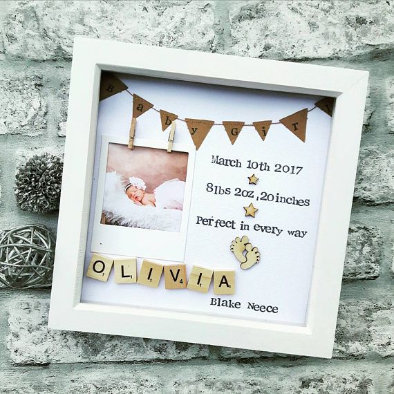 The 25 best birth gift ideas on pinterest keepsake baby gifts this personalised scrabble art frame makes the perfect gift to give your mum and dad on your wedding day negle Image collections