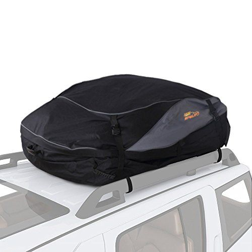 SPAuto Car Cargo Roof Bag - 100% Waterproof Duty Car Roof Top Carrier - Easy to Install Soft Rooftop Luggage Carriers with Wide Straps - Folds Easy (15 Cubic Feet). For product info go to:  https://www.caraccessoriesonlinemarket.com/spauto-car-cargo-roof-bag-100-waterproof-duty-car-roof-top-carrier-easy-to-install-soft-rooftop-luggage-carriers-with-wide-straps-folds-easy-15-cubic-feet/