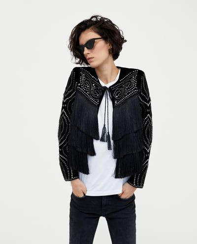 FRINGED VELVET JACKET-JACKETS-WOMAN | ZARA United States