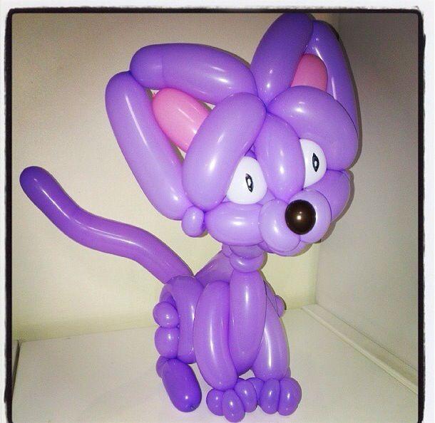 Cat balloon animal cat balloon sculpture twist art animal pinterest cats