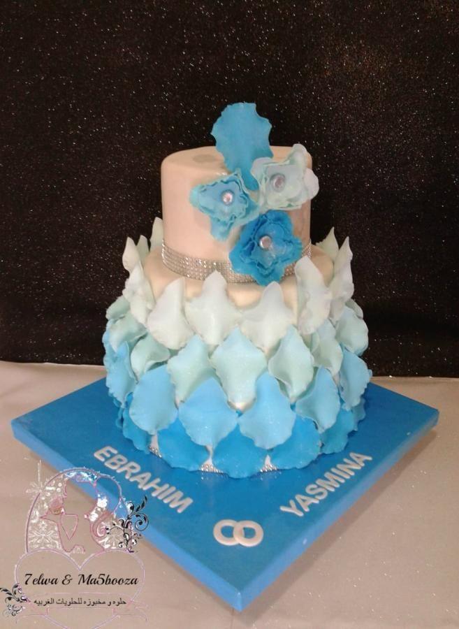 Wedding cake by zahraa fayyad - http://cakesdecor.com/cakes/314377 ...