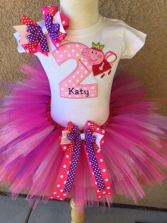Peppa Pig cumpleaños traje vestido por BooBooKittyBirthdays en Etsy