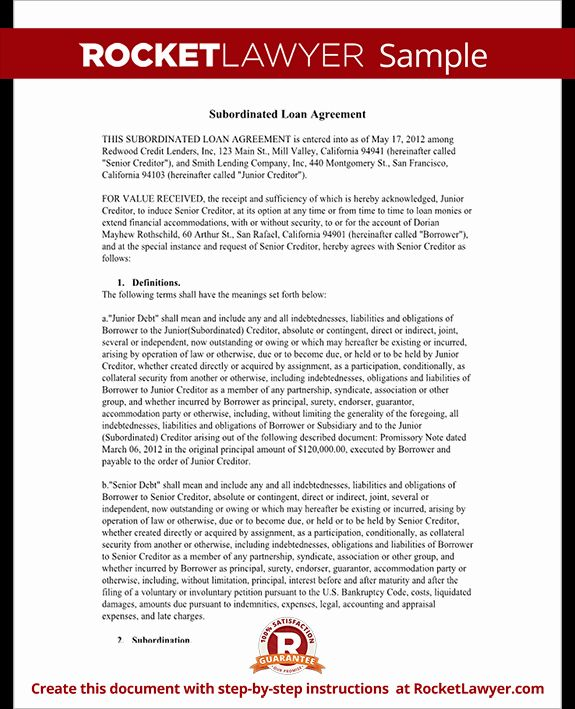 Video Editing Contract Template New Subordination Agreement Form
